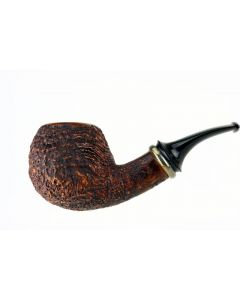 Doctor`s Pipe with Mokume ring - Rusticated