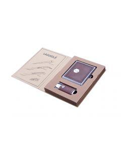 Lighter og cigaret æske - gavesæt (brun)