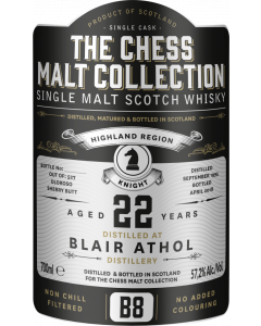 The Chess Malt Collection, Blair Athol 22 Y.O., 57,2% 70 cl.