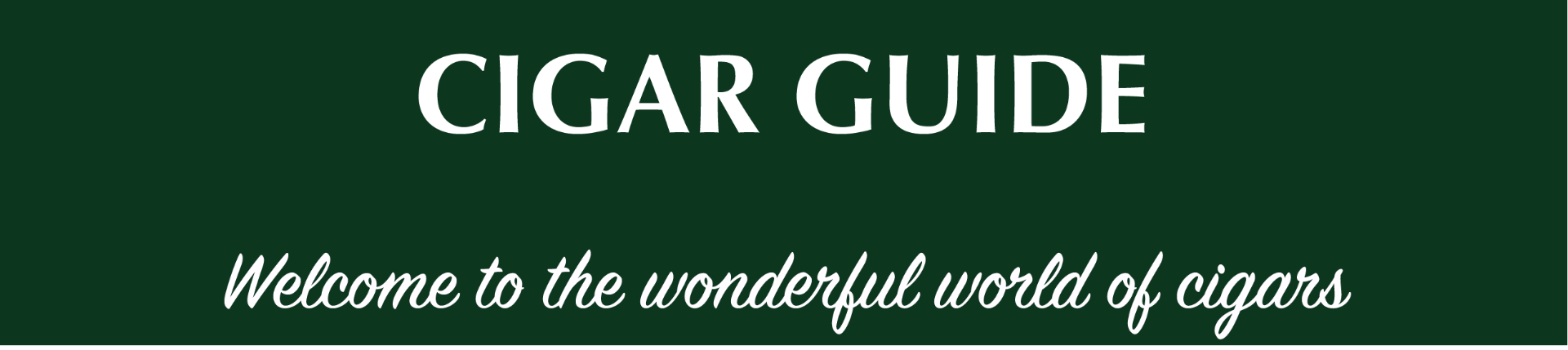 Cigar guide header with text